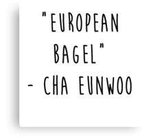 European Bagel Canvas Print