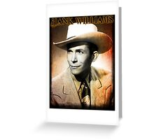 Hank Williams Glow Art Greeting Card