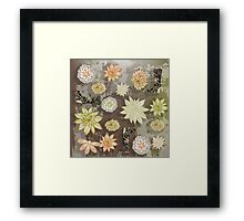 Boots & Flowers Retro Floral Framed Print