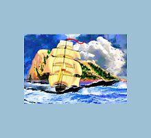 The Golden Clipper in Rough Sea at Gibraltar 2 Unisex T-Shirt