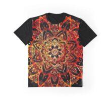 Sunset Colors - Mandala Graphic T-Shirt