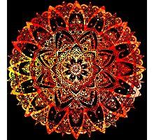 Sunset Colors - Mandala Photographic Print