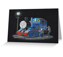 Thomas The Tank Engine - Banksy Artwork Greeting Card