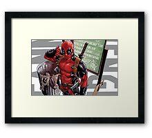 Deadpool Call me Maybe Framed Print