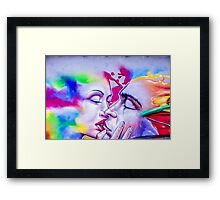 Lovers Kiss Framed Print