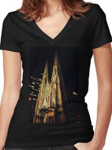 Gothic Women's Fitted V-Neck T-Shirt