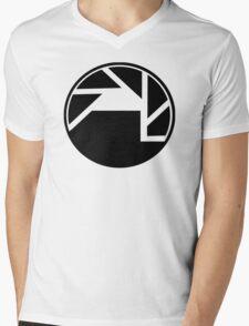 Black Mesa and Aperture Science Logos Mens V-Neck T-Shirt
