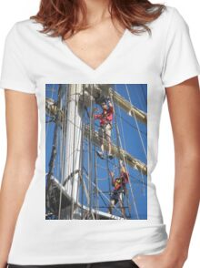 Leeuwin Rigging Women's Fitted V-Neck T-Shirt
