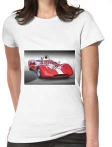 1961 Huffaker Genie Vinage FIA Racecar Womens Fitted T-Shirt