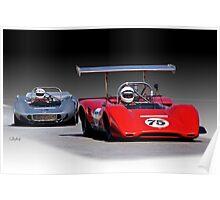 1963 Lola M163 Vintage CanAm Racecar Poster