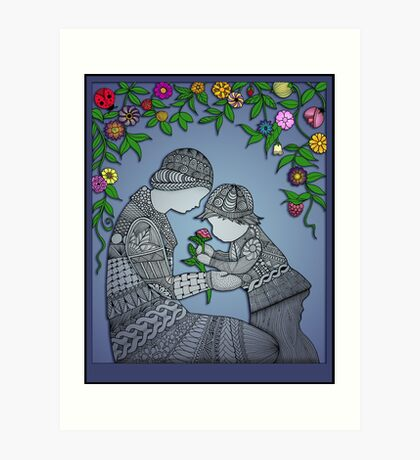 Motherhood - The Rose Art Print