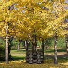 tree and well in the park in autumn by spetenfia