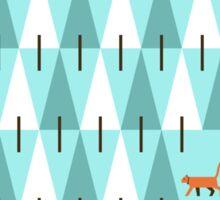 Cat in pine forest Sticker