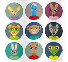 Animals faces  Poster