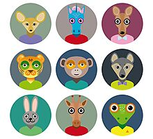 Animals faces  Photographic Print