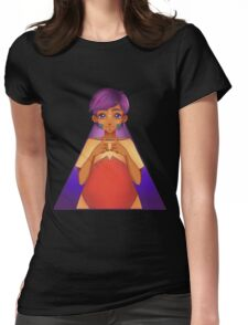 purple hair Womens Fitted T-Shirt