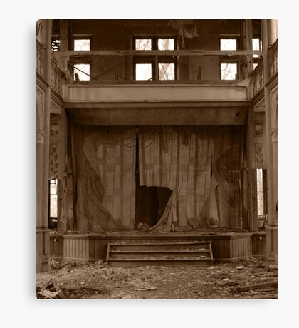 Decayed Theatre Stage Canvas Print
