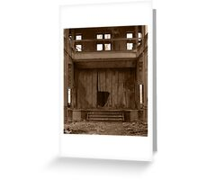 Decayed Theatre Stage Greeting Card