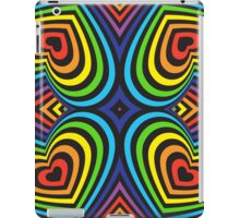 Rainbow haerts on black 3d iPad Case/Skin