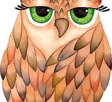 Watercolour Owl by Pip Gerard
