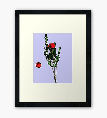 When The Last Petal Falls Framed Print