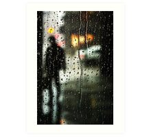 Waiting out the rain Art Print