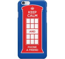 Keep calm and phone a friend. UK London iPhone Case/Skin