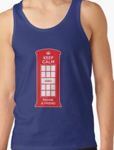 Keep calm and phone a friend. UK London Tank Top