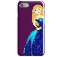 Beautiful Girl In Ball Gown Illustration iPhone Case/Skin