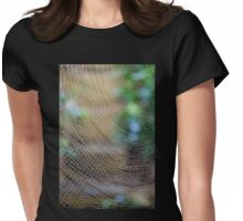 Golden Silk Orb Weaver's Web Design Magic Womens Fitted T-Shirt
