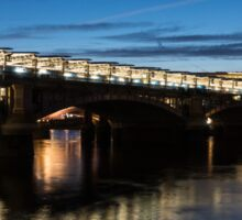 British Symbols and Landmarks - Blackfriars Railway Bridge in London, England Sticker
