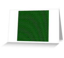 Binary Green Greeting Card