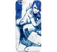 Girl and Bike 1 iPhone Case/Skin
