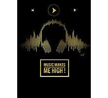 Night music gold Photographic Print