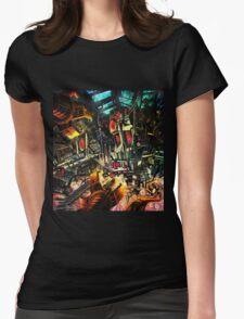 Irreparable Robot Graveyard Womens Fitted T-Shirt