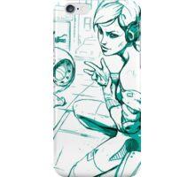 Girl and Bike 2 iPhone Case/Skin