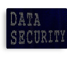 Data Security in Binary Canvas Print