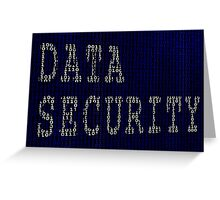 Data Security in Binary Greeting Card