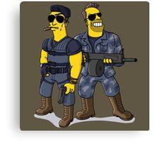 Sylvester Stallone and Arnold Schwarzenegger Canvas Print