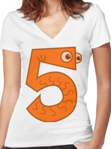 5 - Five Women's Fitted V-Neck T-Shirt