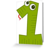 1 - One Snake Greeting Card