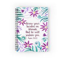 Throw Your Burden Spiral Notebook