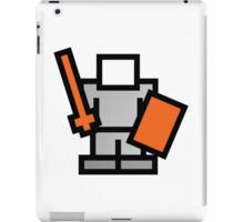 Pixel Game 8Bit Shield and Sword Man iPad Case/Skin