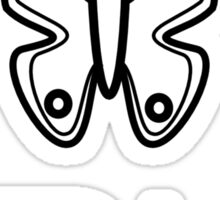 B for Butterfly Sticker