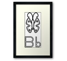 B for Butterfly Framed Print