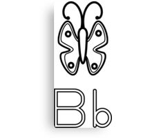 B for Butterfly Canvas Print