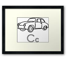 C for Car Framed Print