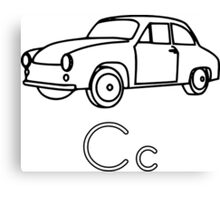 C for Car Canvas Print