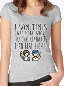 Life Is Strange (I sometimes care more about fictional characters than real people) Women's Fitted Scoop T-Shirt