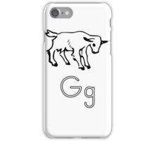 G for Goat iPhone Case/Skin